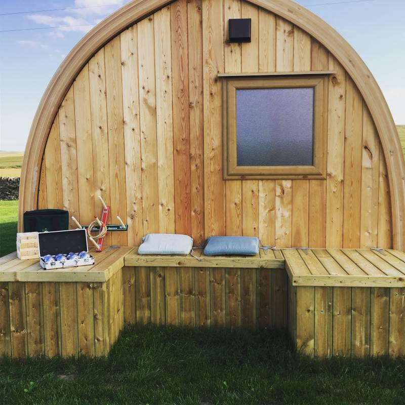 Glamping Holidays in Northumberland with Garden Games